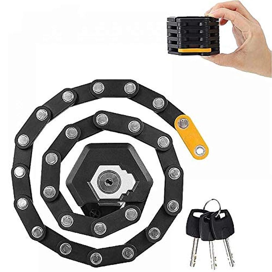ビザ甥ファッションバイクロックヘビーデューティチェーンロック、盗難防止ロックサイクルでの鍵と85センチメートルにロックマウント展開をマッチング