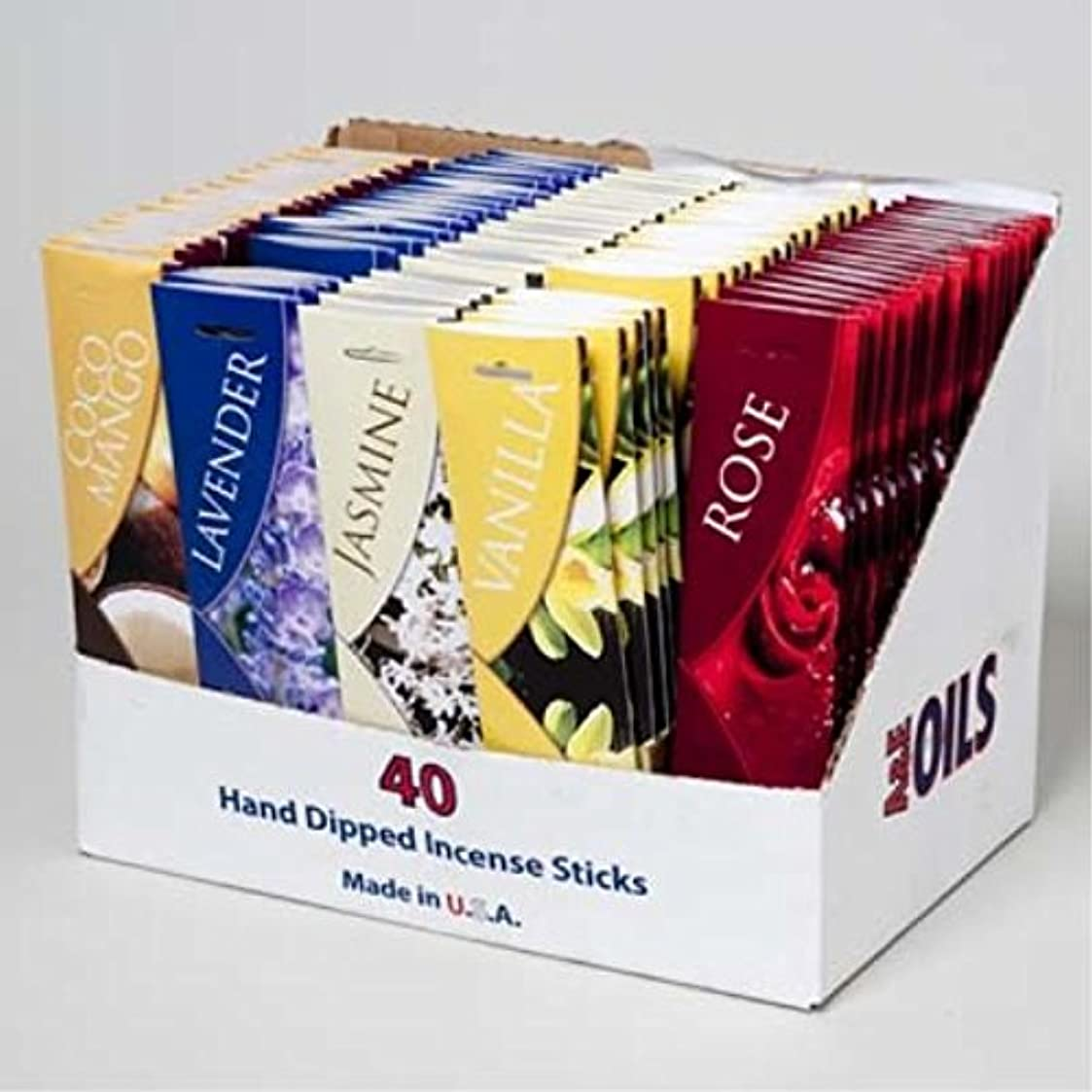 上院クランシーミットDDI Assorted香りつきIncense Sticks 40 Count ( Pack of 100 )