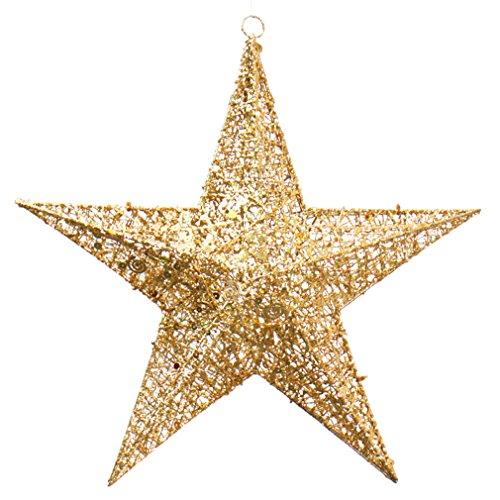 (ラボーグ)La vogue クリスマス 飾り オーナメント 吊り下げ 立体星型 スター クリスマスツリー パーティー 結婚式 イベント 飾り付け 装飾用 ゴールド 20cm