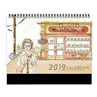 小さな月間カレンダーアカデミックイヤーデスクカレンダー2018-2019デスクスケジューラー-A18