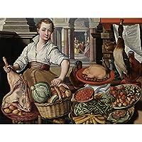 Bueckelaer Kitchen Scene With Jesus Martha Mary Unframed Wall Art Print Poster Home Decor Premium キッチンシーン壁ポスターホームデコ