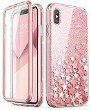 i-BLASON iPhone XS ケース,iPhone X ケース, 液晶保護フレーム付き 米軍MIL規格取得 耐衝撃 防塵デザイン ピンク(2018 Release)