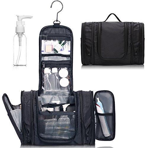 WandF 容量拡大可能 トラベルポーチ コスメポーチ 化粧ポーチ トイレタリーバッグ 洗面具 大容量 出張 旅行 温泉 小分けボトルを贈るTSAの標準に合う