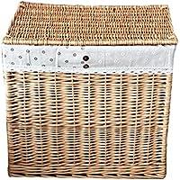 収納 かご バスケットックス 蜂蜜カラーデイジー布のバスケット服のストレージバスケットストレージのウィローバスケットの家庭(55 * 36 * 50センチメートル) Rollsnownow