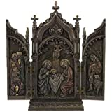 Nativity In Cathedral Triptych Statue Sculpture