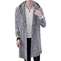 Men's Cardigan Sweater Knit Baggy Open Front Jumper with Pocket