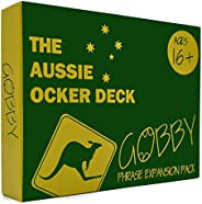 GOBBY Game Aussie Ocker Deck, The True Blue Expansion Pack! Hilarious Mouthguard Challenge Party Game Expansion Deck for Fam
