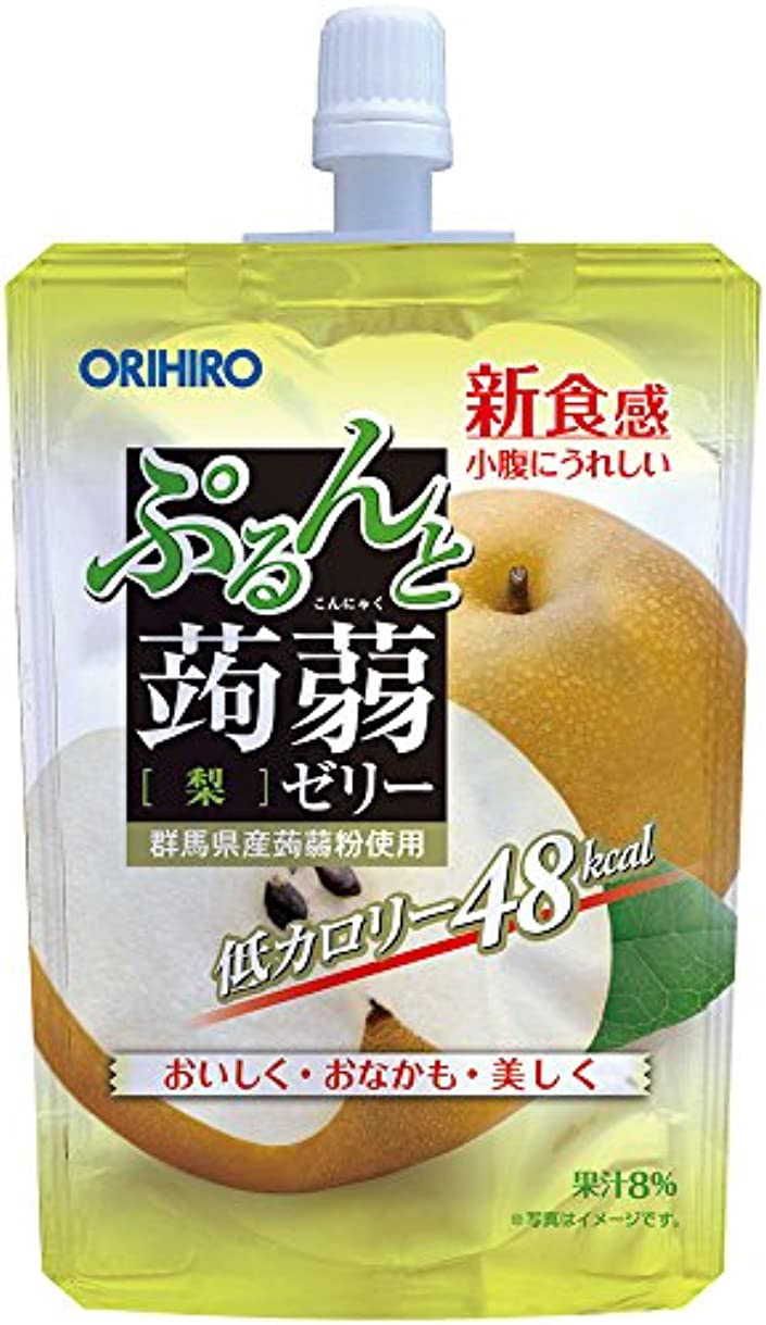 オリヒロ ぷるんと蒟蒻ゼリー 低カロリー 梨 130g×8個