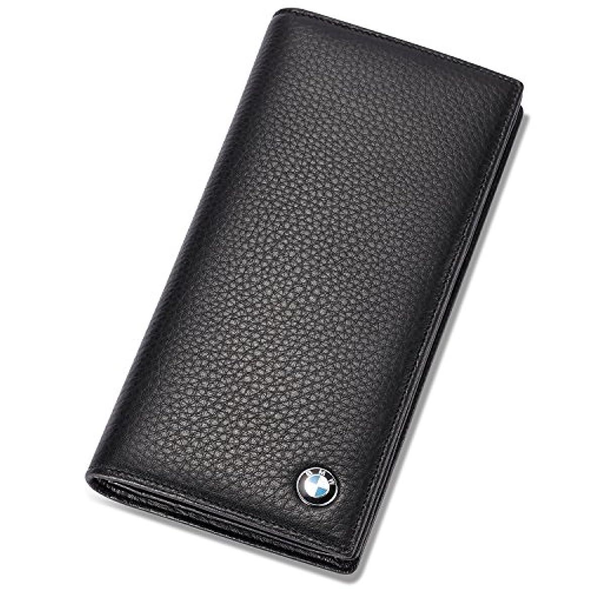 繰り返し写真を撮る名門BMW 二つ折り 長財布 クレジットカードスロット11枚とIDウィンドウ付き 本革
