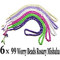 Lot 6 Tasbih Prayer 99 Worry Beads Handmade Misbaha Muslim Rosary Islamic Zikr