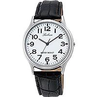 [シチズン キューアンドキュー]CITIZEN Q&Q 腕時計 Falcon ファルコン アナログ 革ベルト ホワイト Q998-304 メンズ