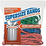 Alliance Rubber 08997 Supersize Bands, Assorted Large Heavy Duty Latex Rubber Bands - 24 Pack, Includes 8 Bands of Each Size