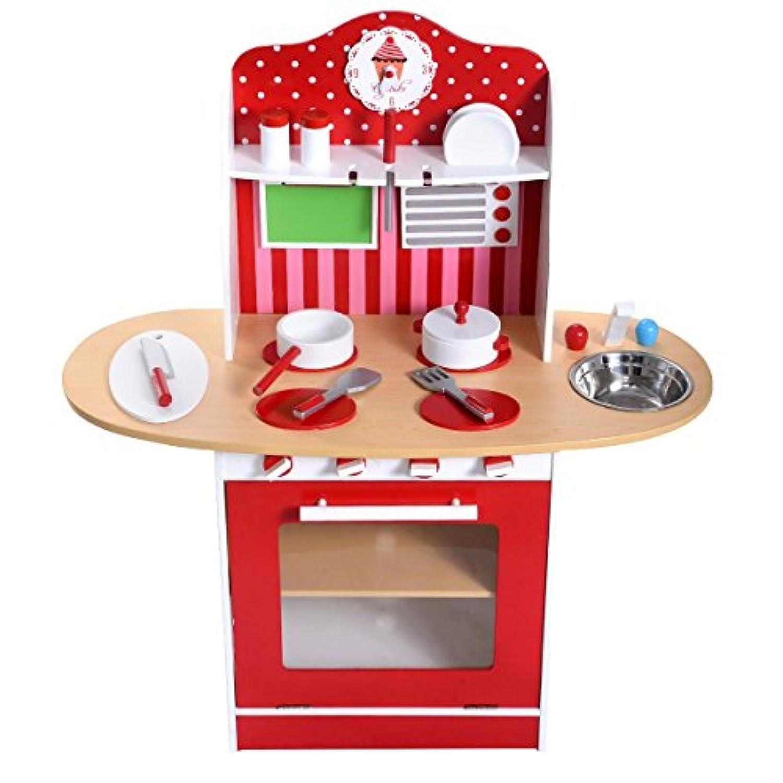 子供木製キッチンおもちゃ料理ごっこ遊びセット幼児用木製プレイセットギフト