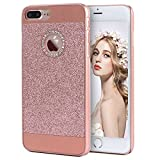 Imikoko iPhone 7 Plus ケース アイホン7プラス おしゃれ 可愛い キラキラ ラメ グリッター