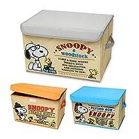 (グレー/ワンサイズ) 収納ボックス BOX ケース SNOOPY スヌーピー フタ付き 折りたたみ キャラプリント