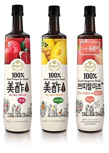 美酢 ミチョ 飲み比べ3本セット 各900ml (ざくろ・パイナップル・もも)