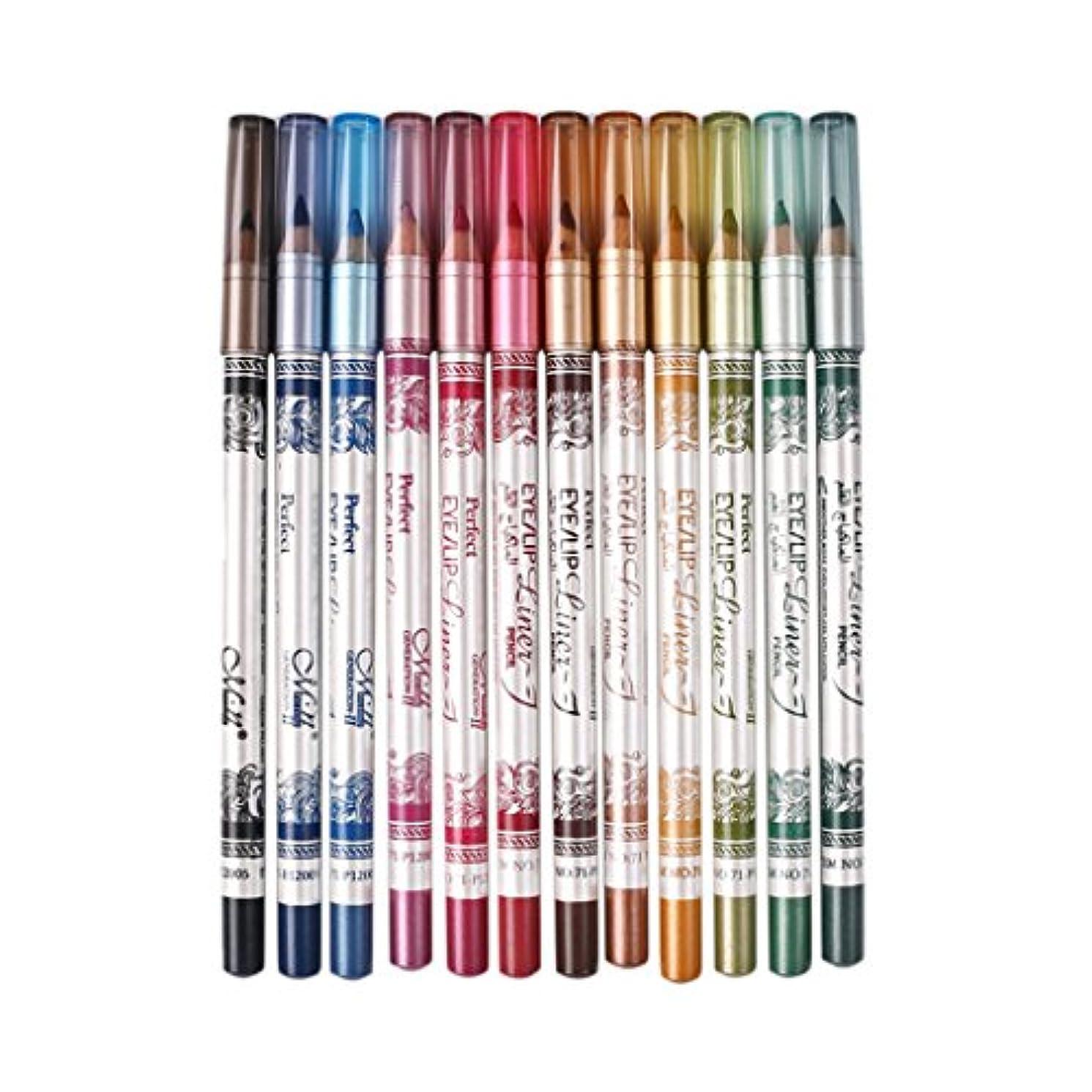 悪性の母性マサッチョKesoto アイライナー リップ アイシャドウ 鉛筆 セット おしゃれ 12色 耐汗性 耐熱性 耐水性
