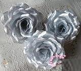 華やか な バラ 造花 花びら 花のみ 10cm 30コ 手作り パーティー お祝い 結婚式 二次会 イベント 装飾 等 に シルバー 銀 ゴールド 金 星型夜光ステッカー セット (銀 シルバー)