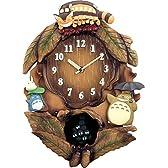 リズム時計 となりのトトロ キャラクター 掛け時計 トトロ M837N トトロのテーマ曲入り 木 茶 4MJ837MN06