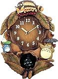 となりのトトロ キャラクター 掛け時計 アナログ トトロ M837N トトロのテーマ曲入り 木 茶 リズム時計 4MJ837MN06