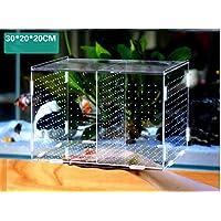 PAWSFUN 魚 繁殖隔離ボックス 大サイズ 水槽 孵化 産卵箱 キスゴム付属 取り付け必要 日本語取扱説明書付 高品質アクリル 水族館アクセサリー 多機能 産卵箱 Lサイズ 30 * 20 * 20cm