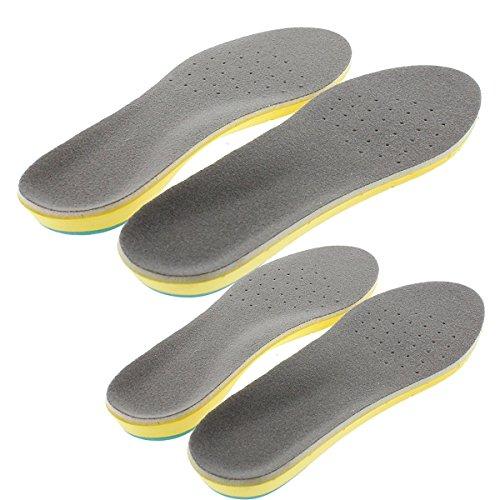 【セット2 pairs】衝撃吸収 インソール 立体形状でアーチにフィット 消臭 空気の通る 人体工学設計 サイズ調整可能 スニーカー中敷き 男女兼用