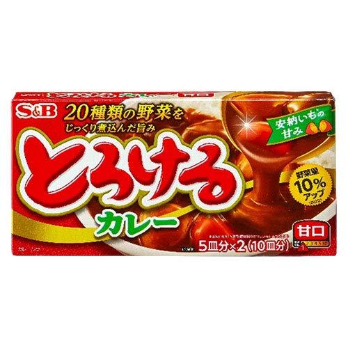エスビー食品 S&B とろけるカレー 甘口 180g×10個入×(2ケース)