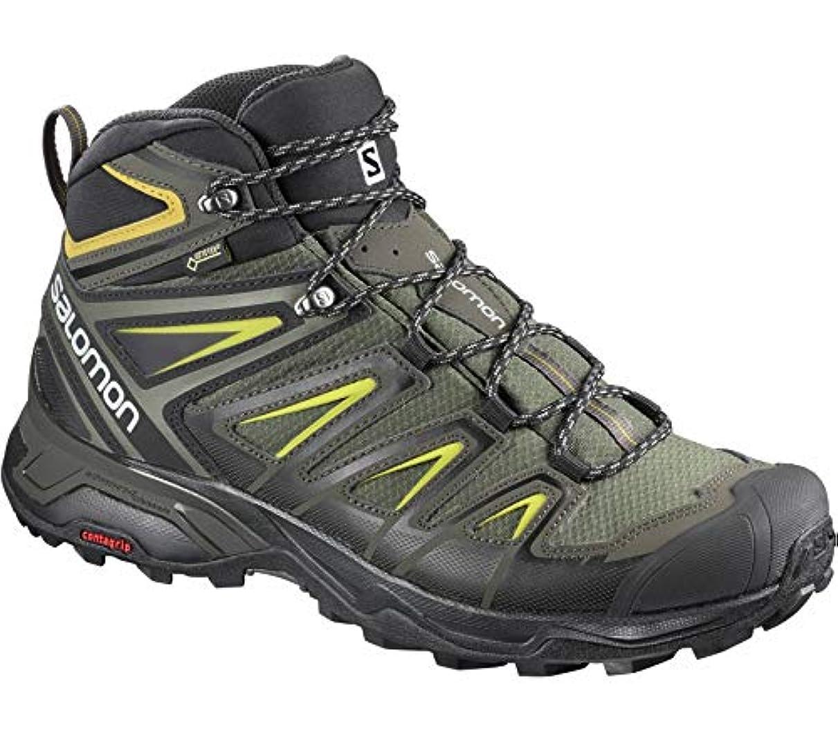 引用寛容なムスタチオSalomon(サロモン) メンズ 男性用 シューズ 靴 ブーツ ハイキングブーツ X Ultra 3 Mid GTX(R) - Castor Gray/Black/Green Sulphur [並行輸入品]