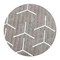 JIAJUAN ラウンドカーペット滑り止め 柔らかい 簡単に清掃する 耐摩耗性 吸水 寝室 生活 ルーム 、 20mm、 3サイズ、 3色 (色 : B, サイズ さいず : 100cm)