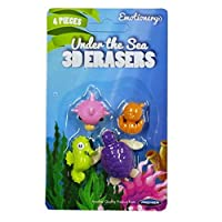 Amazing 3D Pencil Erasers - Pack of 4 - Under the Sea - Emotionery
