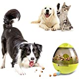 ViuiDueTure Dog Treat Dispenser Ball Toy, Interactive Treat-Dispensing Ball for Dogs & Cats: Increases IQ and Mental Stimulation, Tumbler Design Easy to Clean- Green
