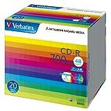 三菱ケミカルメディア Verbatim 1回記録用 CD-R SR80SP20V1 (48倍速/20枚)