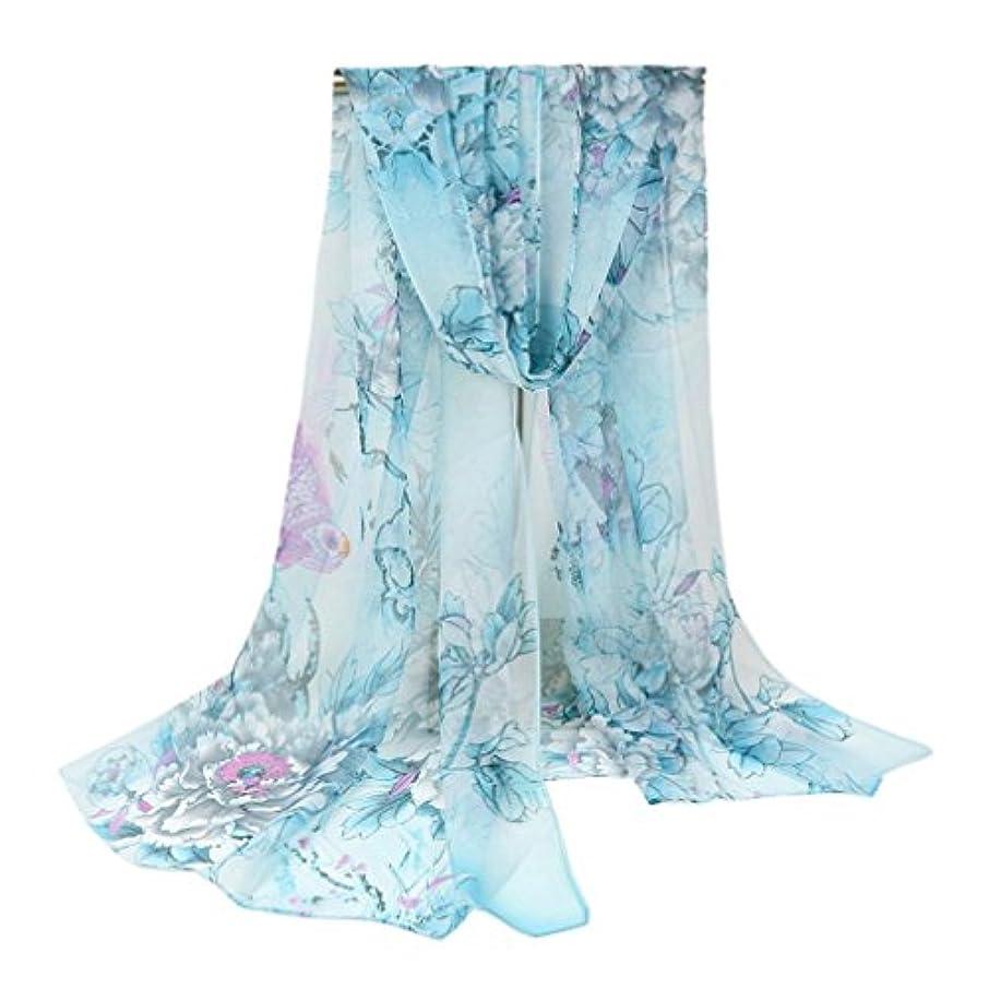 薬起業家おとうさんCOMVIP 花柄 レディース スカーフ ファッション 柔らかい 海辺 マフラー 薄地 ビーチカバー ストール 日焼け防止 コンフォート 通勤
