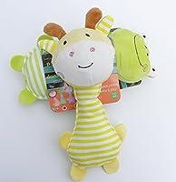 変な音のおもちゃ幼児子供のおもちゃ 多機能動物ぬいぐるみスティックベビーかわいいBBスティック(キリン、イエロー)