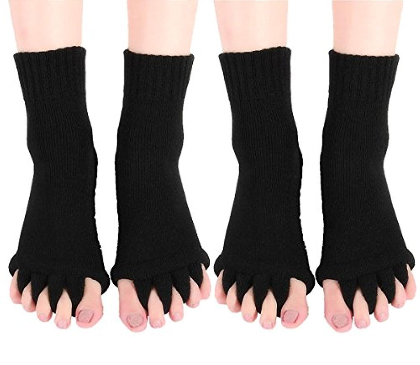 輸血乳白予言する【AMARISE】スリーピングソックス 足指全開 足指ストレッチ 足指ソックス 足指のばし 男女兼用