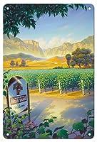 22cm x 30cmヴィンテージハワイアンティンサイン - マデラ・ヴィンヤード・ワイン・トレイル - カリフォルニアワインカントリーアート によって作成された カーン・エリクソン