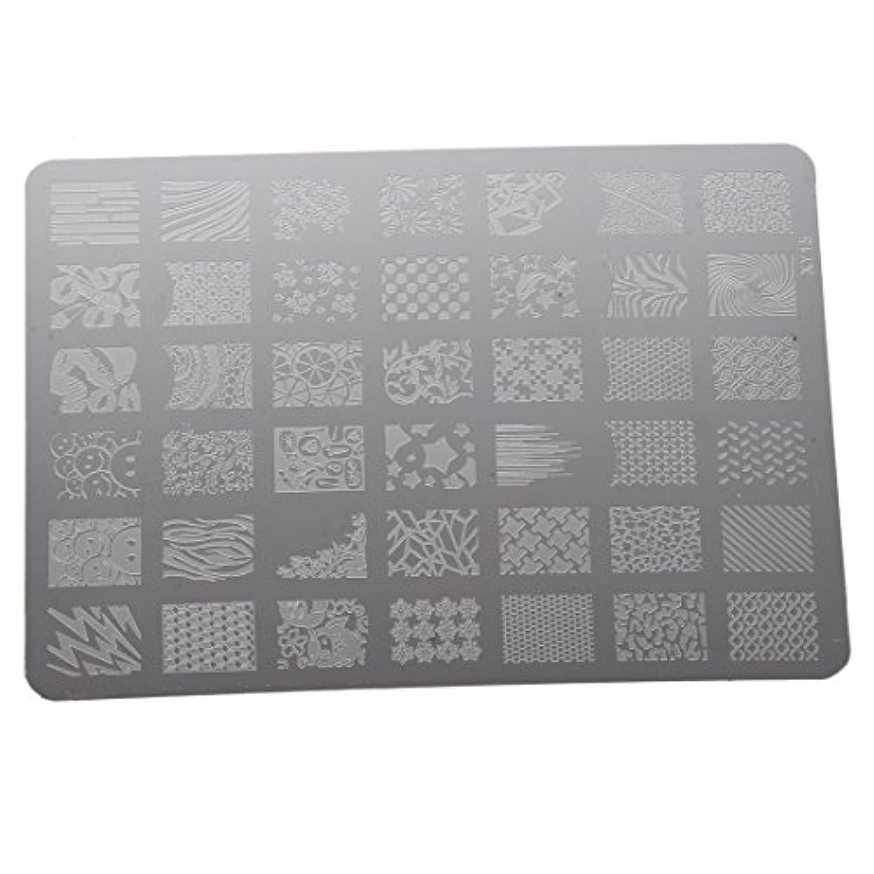 ここに溶接便利さRETYLY ネイルスタンピングプリンターマニキュアプレート ネイルデコレーションアートスタンプイメージプレート XY15
