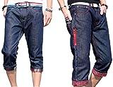 コンバース スリッポン (アルファーフープ) α-HOOP メンズ カジュアル ストリート ファッション デニム ジーパン 7 分 丈 ハーフ パンツ S ~ XXL 大きい サイズ も DME2