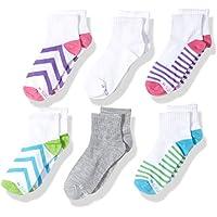 Hanes girls 611/6 Hanes Girls Premium Ankle Socks Casual Sock - multi