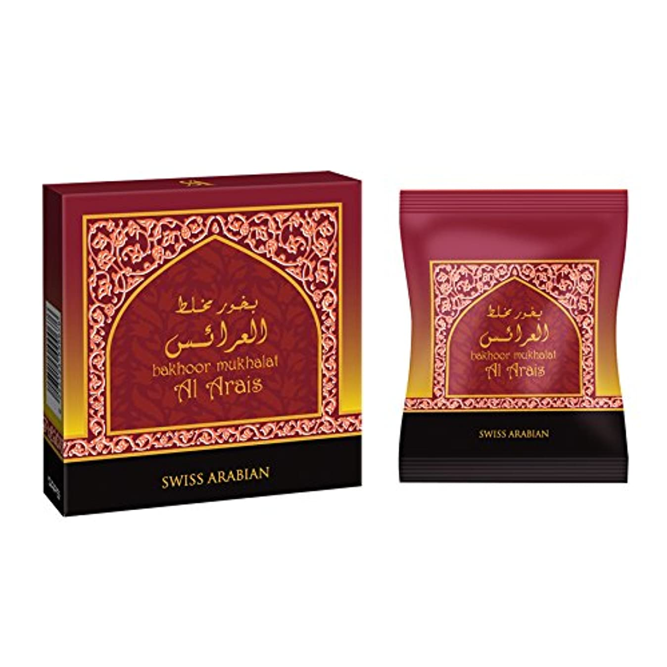 下手退屈させる側swissarabian Mukhalat Al Arais Bakhoor (40g) Incense