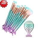 (プタス)Putars メイクブラシ メイクブラシセット 11本セット 人気 人魚姫 化粧ブラシ ふわふわ お肌に優しい 毛量たっぷり メイク道具 プレゼント