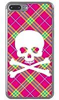 [iPhone 7 Plus/Apple専用] SECOND SKIN スマートフォンケース スカルパンク ピンク (ソフトTPUクリア) 3AP7PL-TPCL-701-J097