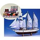 ウッディジョー/木製帆船模型 1/75あこがれ+塗料セット