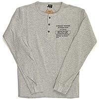 (アビレックス) AVIREX アヴィレックス ロングスリーブ ハニカム ワッフル ヘンリーネック Tシャツ カットソー メンズ 6183500