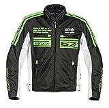 エルフ(ELF) バイクジャケット メッシュブルゾン ブラック/グリーン 3L EL-7227LTD