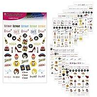 Happenings プランナーステッカー バラエティパック 700以上の楽しい生産性関連日記ステッカー