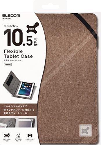 エレコム 8.5〜10.5インチ汎用タブレットケース ファブリック ブラウン TB-10FCHBR 1個