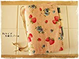 B6サイズ手帳カバー ピンクのいちご 綿麻スラブ 夢かな手帳 星のダイアリー対応