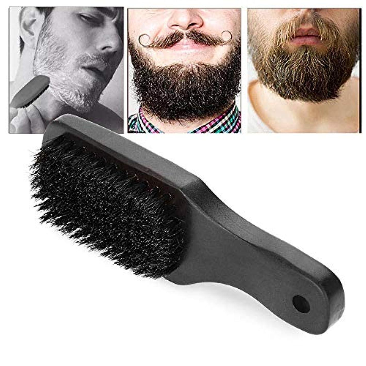 ポマードの毛の櫛、ひげのための剃るブラシの毛の手入れをするポマードの毛の櫛の人のひげを生やしたひげのクリーニングブラシの毛