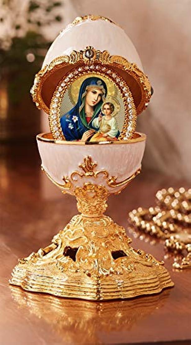 映画忘れっぽい宗教的なAlexandra Int'l エターナルブルーム マドンナ エナメル デラックスエッグ サプライズクリスマス付き 5 1/2インチ